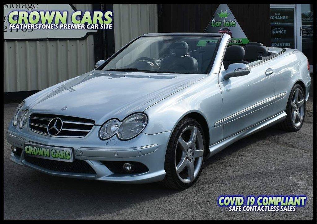 USED 2006 06 MERCEDES-BENZ CLK 1.8 CLK200 Kompressor Sport Cabriolet 2dr AMG STYLING KIT - STUNNING CAB