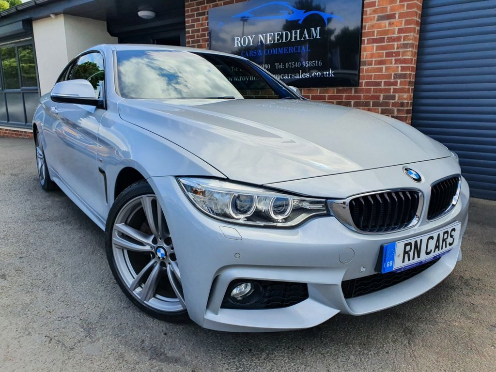 USED 2015 15 BMW 4 SERIES 2.0 428I M SPORT 2DR 242 BHP *** SAT NAV - HEATED LEATHER ***