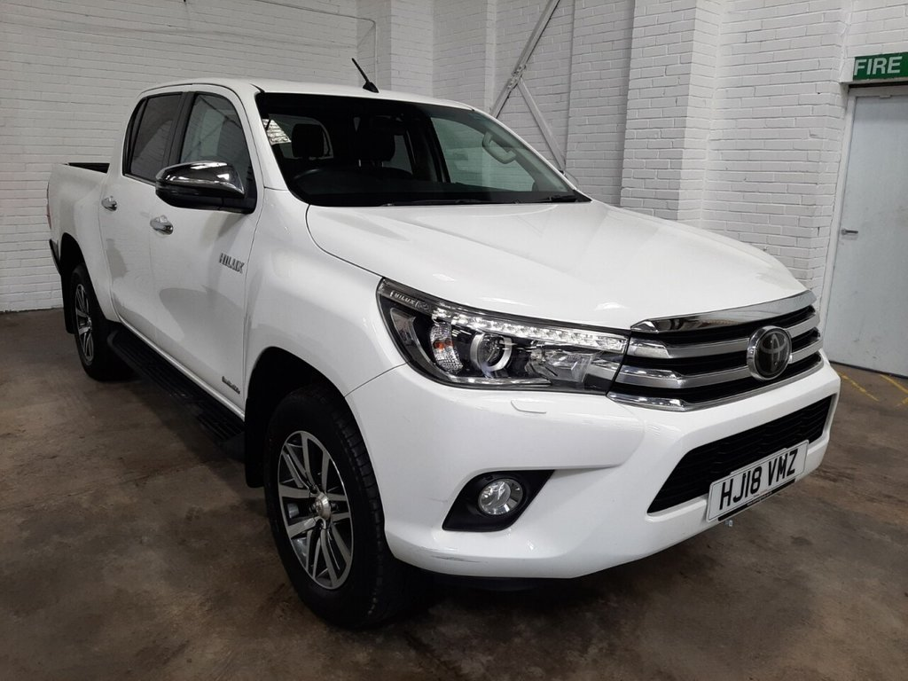 USED 2018 18 TOYOTA HI-LUX DOUBLE CAB 2.4 INVINCIBLE 4WD D-4D 150ps AUTO