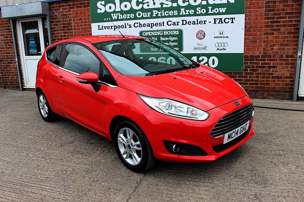 USED 2014 14 FORD FIESTA 1.2 ZETEC 3d 81 BHP +BLUETOOTH +AC +USB CONNECTION