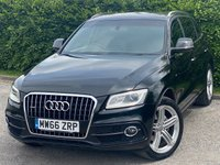 USED 2016 66 AUDI Q5 2.0 TDI QUATTRO S LINE PLUS 5d AUDI SERVICE HISTORY, MOT UNTIL APRIL 2022, SATELLITE NAVIGATION, FULL HEATED LEATHER INTERIOR, FRONT AND REAR PARKING SENSORS, PANORAMIC SUNROOF