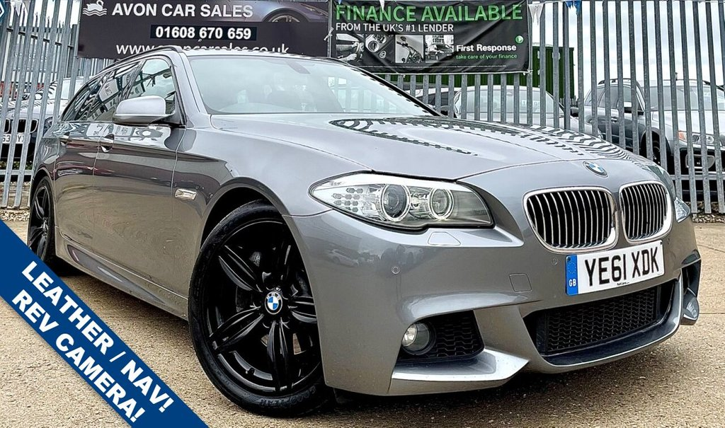 USED 2011 61 BMW 5 SERIES 2.0 525D M SPORT TOURING 5d 215 BHP AUTOMATIC! - LEATHER! SAT NAV! HEATED SEATS! REVERSING CAMERA! 3 PREV OWNERS! SERV HISTORY!