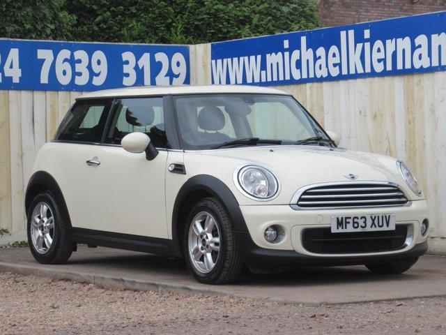 USED 2013 63 MINI HATCH ONE 1.6 ONE D 3d 90 BHP NICE CLEAN CAR