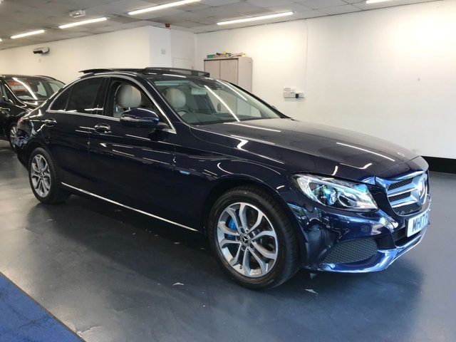 USED 2017 17 MERCEDES-BENZ C-CLASS 2.0 C350 E SPORT PREMIUM PLUS 4d 208 BHP 1 owner from new with amazing spec including heads up display, air suspension and ambient lighting.