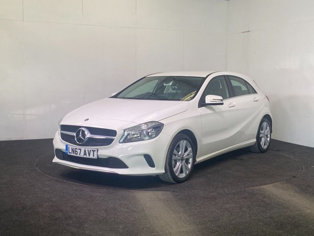 USED 2017 67 MERCEDES-BENZ A-CLASS 1.5 A 180 D SPORT 5d 107 BHP REVERSE CAMERA + FAUX LEATHER + APPLE CAR PLAY