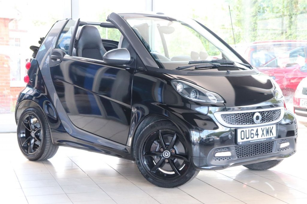 USED 2014 64 SMART FORTWO CABRIO 1.0 GRANDSTYLE EDITION MHD 2d 71 BHP Satnav + Mercedes History