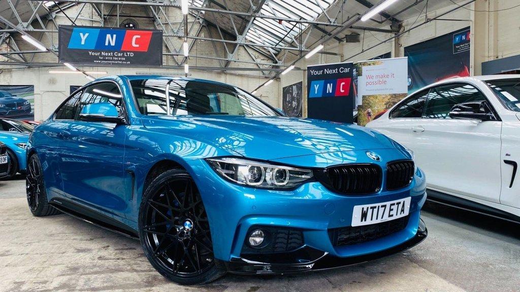 USED 2017 17 BMW 4 SERIES 2.0 420d M Sport Auto 2dr PERFORMANCEKIT+20S+DIGITALDASH