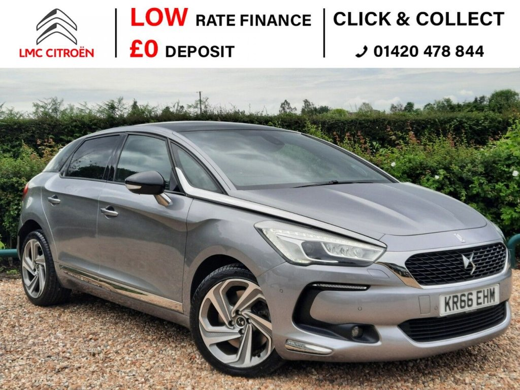 USED 2016 66 DS DS 5 2.0 BLUEHDI PRESTIGE S/S EAT6 5d 178 BHP ***REAR CAMERA + PAN ROOF***