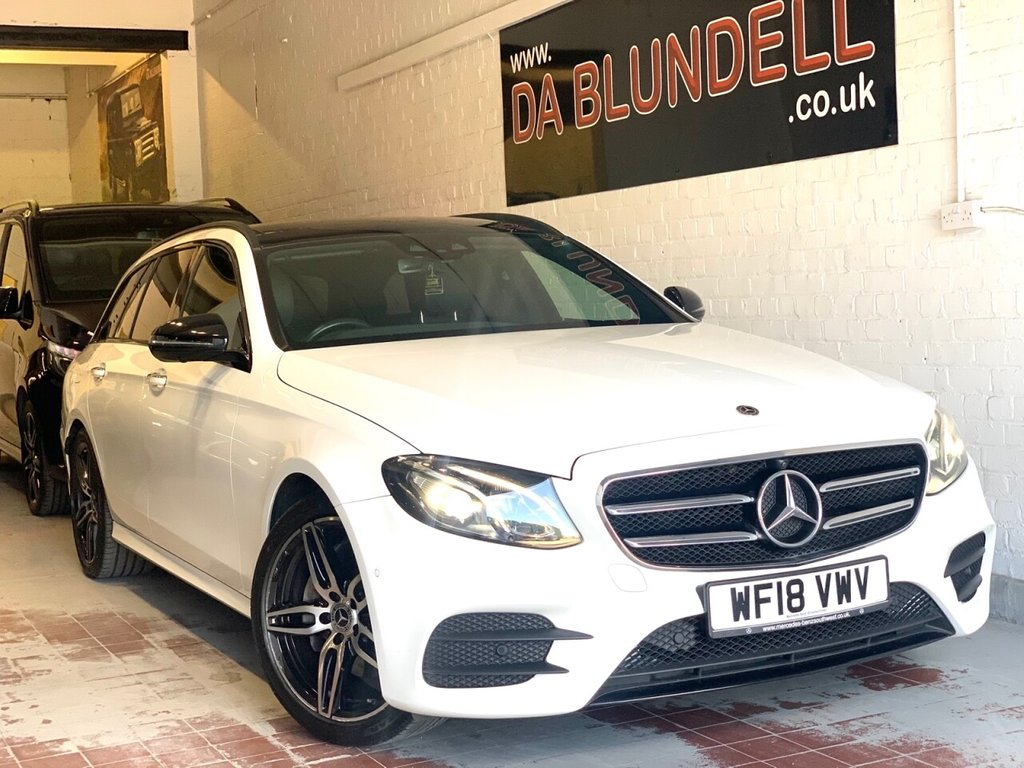 USED 2018 18 MERCEDES-BENZ E-CLASS 2.0 E 220 D AMG LINE PREMIUM 5d 192 BHP PAN ROOF+NIGHT PACK+1 OWNER