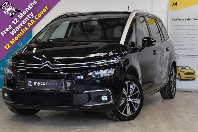 USED 2017 67 CITROEN C4 GRAND PICASSO 1.6 BLUEHDI FLAIR S/S 5d 118 BHP MASSIVE SPEC WITH FULL CITROEN SERVICE HISTORY, SAT NAV, CRUISE CONTROL, MASSAGE SEATS, PARALLEL PARKING, CLIMATE CONTROL, REVERSE CAMERA, PANORAMIC GLASS ROOF, ELECTRIC TAILGATE, ELECTRIC FOLDING MIRRORS, PART LEATHER