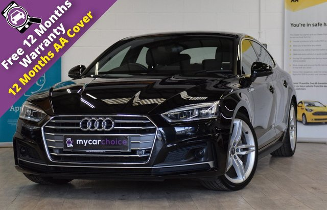 USED 2017 17 AUDI A5 2.0 SPORTBACK TDI S LINE 5d AUTO 188 BHP FULL AUDI SERVICE HISTORY, MASSIVE SPEC WITH AUDI ASSISTANCE PACK PRE SENSE PLUS, DRIVER ASSISTANCE PACK, BLIND SPOT MONITORING, ADAPTIVE CRUISE CONTROL, LED HEADLIGHTS, HIGH BEAM ASSIST, REVERSE CAMERA, HEATED SEATS, ELECTRIC SETAS WITH FRONT SEATS MASSAGE, TOO MUH TO LIST