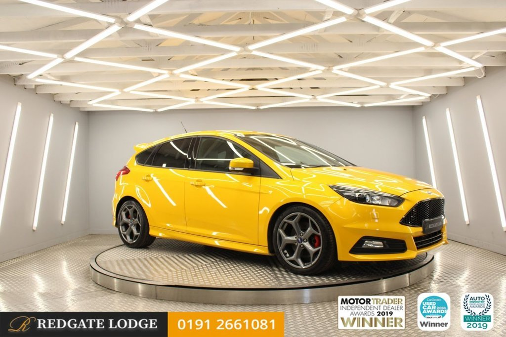 USED 2016 65 FORD FOCUS 2.0 ST-3 TDCI 5d 183 BHP FULL LEATHER RECARO, HEATED FRONT SEATS, DAB, XENON HEADLIGHTS, PRIVACY GLASS, 5 SERVICES...
