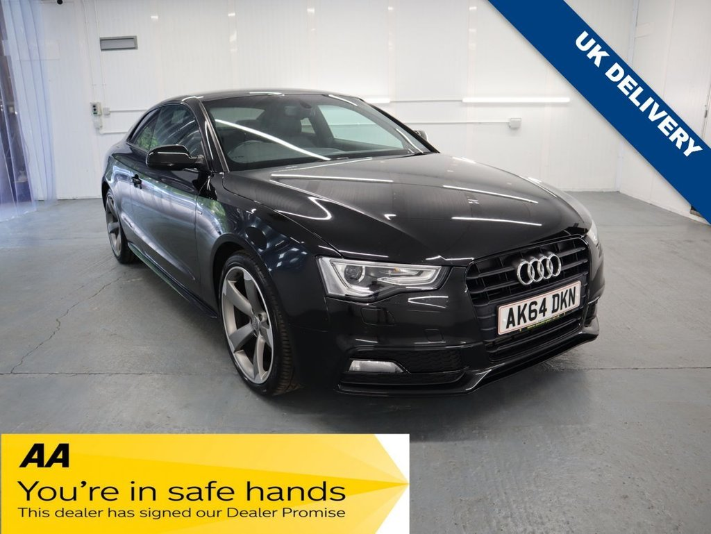 USED 2014 64 AUDI A5 2.0 TDI BLACK EDITION 2d 177 BHP THIS STUNNING BLACK EDITION AUDI A5 HAS BEEN TAKEN IN PART EXCHANGE. WITH AUDI SERVICE HISTORY & 2 KEYS