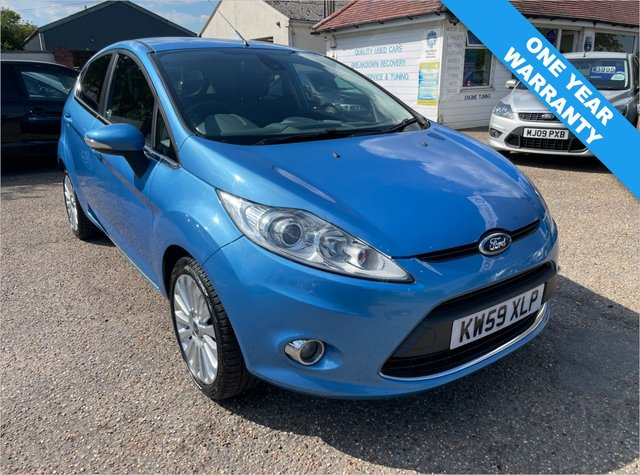 USED 2010 59 FORD FIESTA 1.4 TITANIUM 5d 96 BHP ONE YEAR WARRANTY INCLUDED / FULL HISTORY  11 STAMPS / CAM BELT DONE 2018