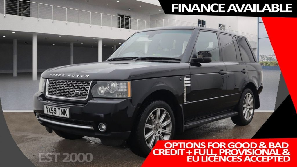 USED 2009 59 LAND ROVER RANGE ROVER 3.6 TDV8 VOGUE SE 5d 271 BHP * CRUISE  CONTROL * BLUETOOTH * NAVIGATION * HEATED FRONT SEATS LEATHER * MOT SEPT * 2 KEYS *