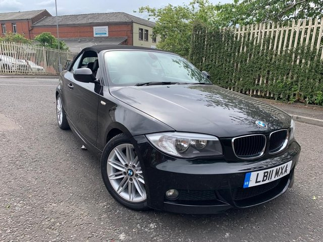 USED 2011 11 BMW 1 SERIES 2.0 120D M SPORT 2d 175 BHP A GREAT CONVERTIBLE