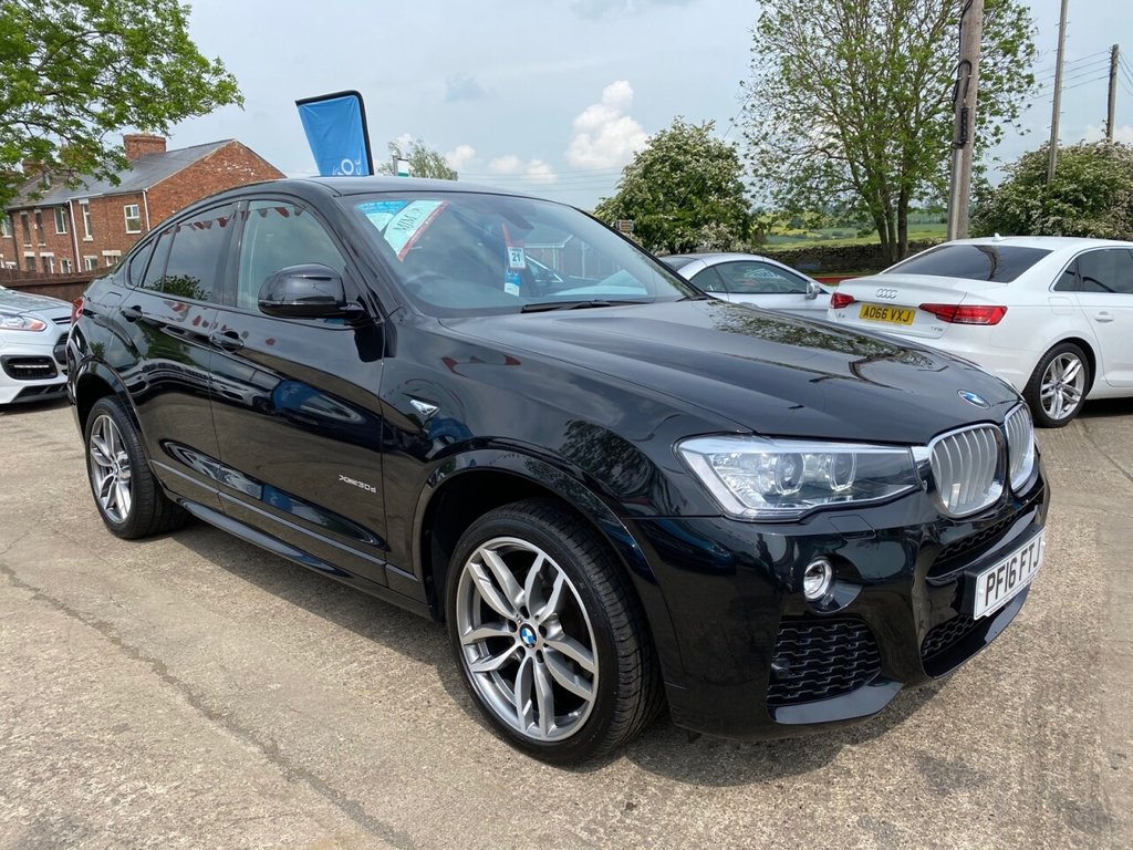 USED 2016 16 BMW X4 3.0 XDRIVE30D M SPORT 4d 255 BHP * 1 OWNER * HEATED LEATHER * SAT NAV * PARKING AID * 19