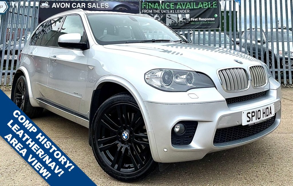 USED 2010 10 BMW X5 3.0 XDRIVE40D M SPORT 5d 302 BHP AUTOMATIC! FULL LEATHER! SAT NAV! ELECTRIC MEMORY SEATS! COMP HISTORY! AREA VIEW CAMERA! HEADS UP DISPLAY! 3 PREV OWNERS!