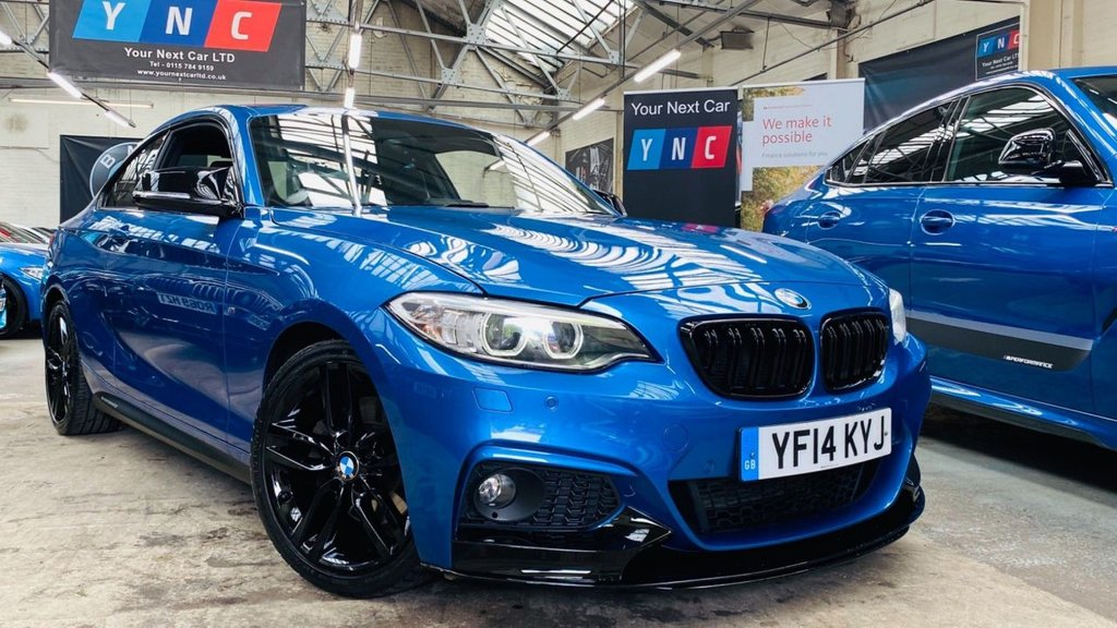 USED 2014 14 BMW 2 SERIES 2.0 225d M Sport Auto (s/s) 2dr PERFORMANCEKIT+HTDLTHR+XENONS