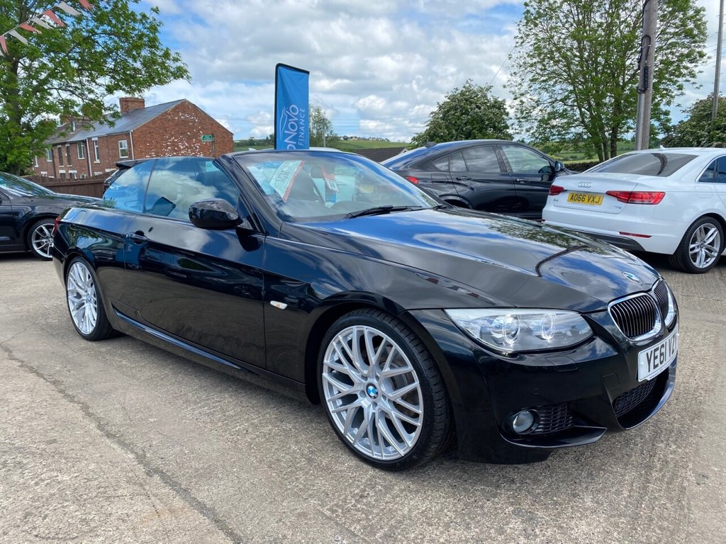 USED 2011 61 BMW 3 SERIES 2.0 320D SPORT PLUS EDITION CONVERTIBLE 2d 181 BHP * 1 OWNER * SAT NAV * HEATED LEATHER *ELEC SEATS * PARKING AID * STUNNING THROUGHOUT *