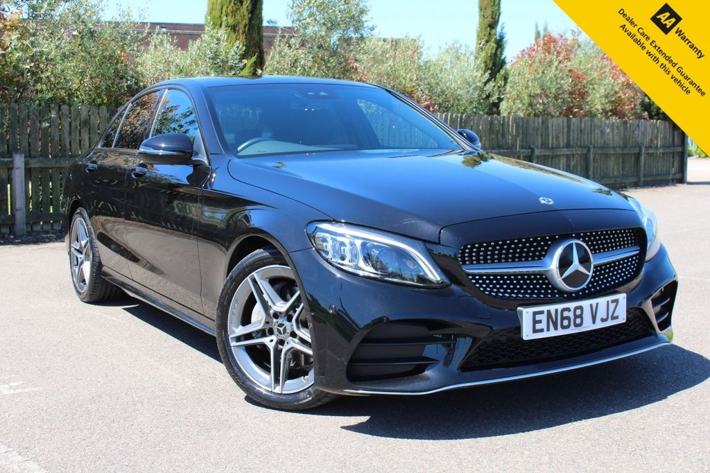 USED 2019 68 MERCEDES-BENZ C-CLASS 1.5 C 200 AMG LINE PREMIUM 4d 181 BHP ** 1 PRIVATE OWNER FROM NEW ** SUPERB LOW MILES 9 SPEED AUTO - ULEZ EXEMPT ** FULL MERCEDES BENZ MAIN DEALER SERVICE HISTORY ** UPGRADED 12.3 INSTRUMENT CLUSTER ** SAT NAV ** REAR CAMERA ** APPLE CAR PLAY ** ACTIVE PARK ASSIST (CAR PARKS ITSELF) ** FRONT + REAR PARKING AID ** CRUISE CONTROL + LIMITER ** AUTO LIGHTS + WIPERS ** WIRELESS PHONE CHARGING ** BLUETOOTH ** AMG INTERIOR + EXTERIOR STYLING PACKS ** AMBIENCE LIGHTING ** MIRROR PACKAGE ** BUY ONLINE IN CONFIDENCE ** DELIVERY AVAILABLE **