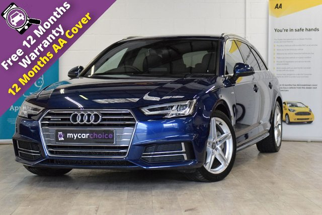 USED 2017 17 AUDI A4 2.0 AVANT TDI QUATTRO S LINE 5d AUTO 188 BHP FULL AUDI SERVICE HISTORY, SAT NAV, CRUISE CONTROL, LED HEADLIGHTS WITH HIGHBEAM ASSIST, SPORTS SUSPENSION, PRIVACY GLASS, FRONT AND REAR PARKING AID