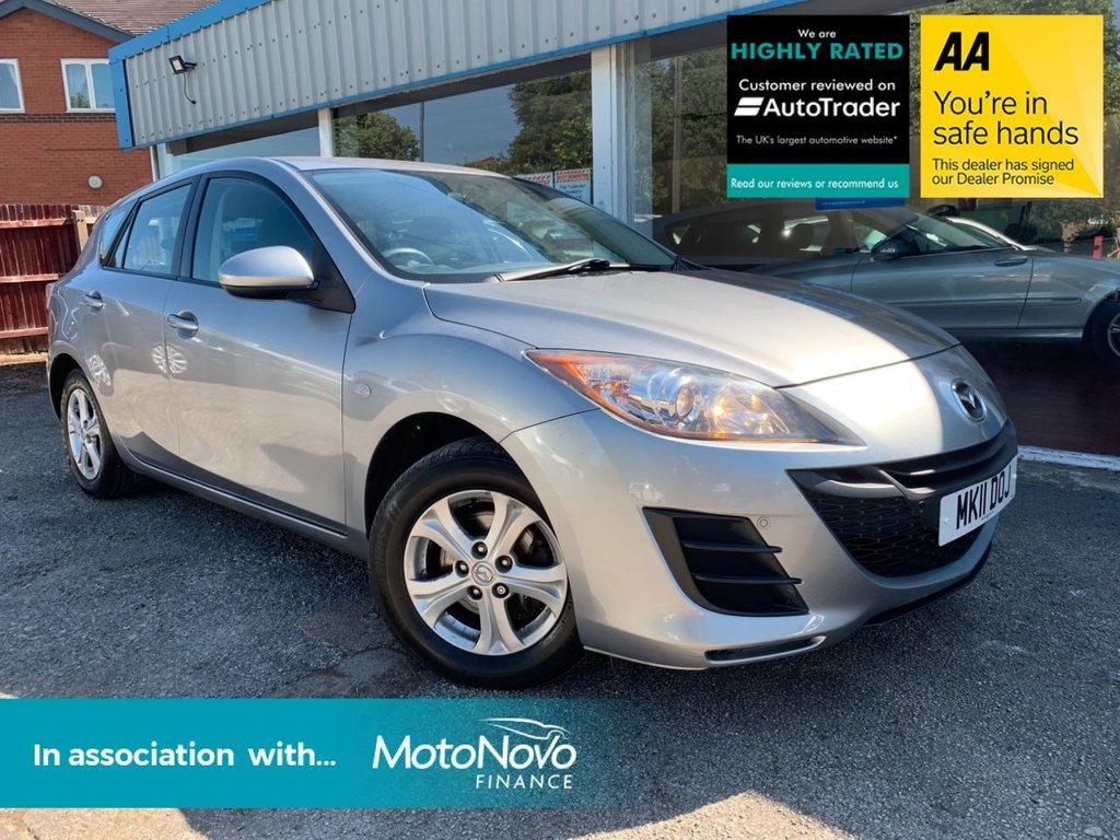 USED 2011 11 MAZDA 3 1.6 TS 5d AUTOMATIC 105 BHP LOW MILEAGE AUTOMATIC, PARKING AID ALL ROUND, AIR CONDITIONING
