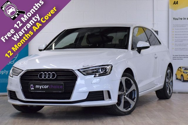 USED 2017 66 AUDI A3 2.0 TDI SPORT 3d AUTO 148 BHP FULL SERVICE HISTORY, AUDI SOUND SYSTEM, ELECTRIC FOLDING HEATED MIRRORS, REAR PARKING AID, PRIVACY GLASS, 18 INCH DYNAMIC ALLOYS DIAMOND CUT, HEATED SEATS