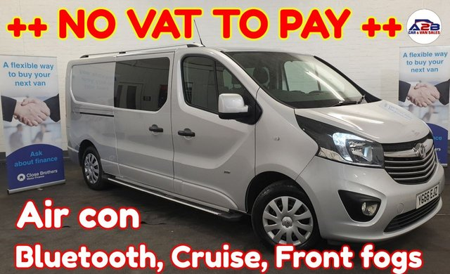 USED 2016 66 VAUXHALL VIVARO 1.6  2900 SPORTIVE ++ LONG WHEEL BASE ++ ++ CREW CAB ++ ++ NO VAT TO PAY ++ Bluetooth, DAB, Air con, Cruise, Stop start, Electric Windows, Electric Mirrors and much more ...