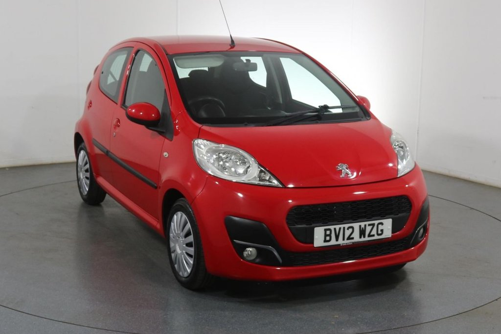 USED 2012 12 PEUGEOT 107 1.0 ACTIVE 5d 68 BHP £0 ROAD TAX I FULL 7 STAMP SERVICE HISTORY