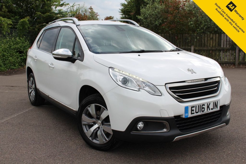 USED 2016 16 PEUGEOT 2008 1.2 S/S ALLURE 5d 82 BHP ** FULL PEUGEOT SERVICE HISTORY ** BRAND NEW ADVISORY FREE MOT + FRESHLY SERVICED ** REAR PARKING SENSORS ** CRUISE CONTROL ** AIR CON ** 0 DEPOSIT FINANCE AVAILABLE ** NATIONWIDE DELIVERY AVAILABLE ** CLICK AND COLLECT AVAILABLE **