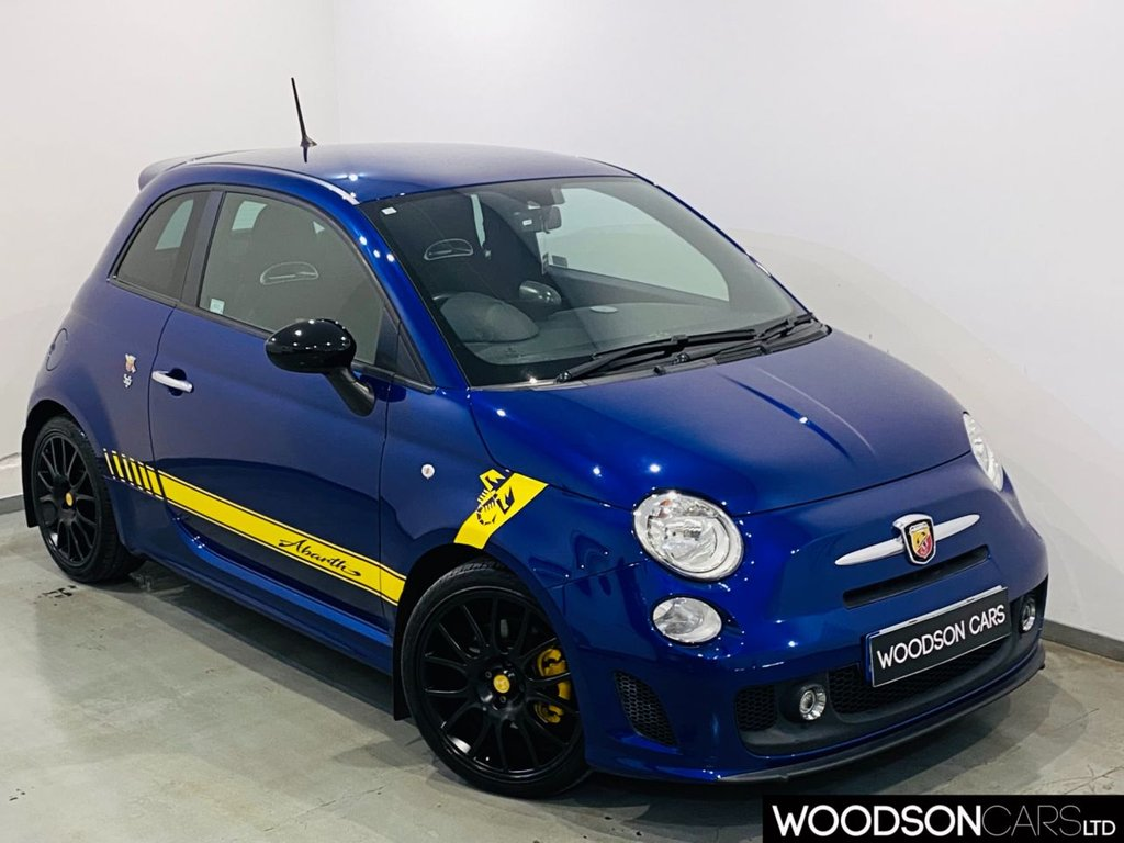 USED 2016 65 ABARTH 500 1.4 595 YAMAHA FACTORY RACING 3d 158 BHP 4 Exhausts / Bluetooth / Aux / Isofix / Black Alloy Wheels