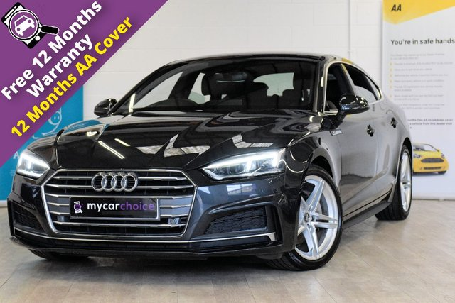 USED 2017 17 AUDI A5 2.0 SPORTBACK TDI ULTRA S LINE 5d AUTO 188 BHP FULL AUDI SERVICE HISTORY, AUDI VIRTUAL COCKPIT, TECHNOLOGY PACK, HEATED SEATS, SAT NAV, CRUISE, FRONT AND REAR PARKING AID, SPORTS SUSPENSION