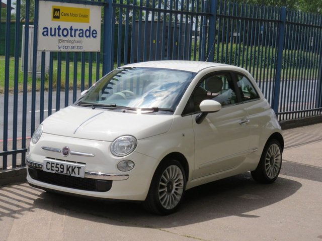 USED 2009 59 FIAT 500 1.4 POP 3d 99 BHP Red Leather Seats, Air Con, Aux In, Remote Central Locking, Bluetooth