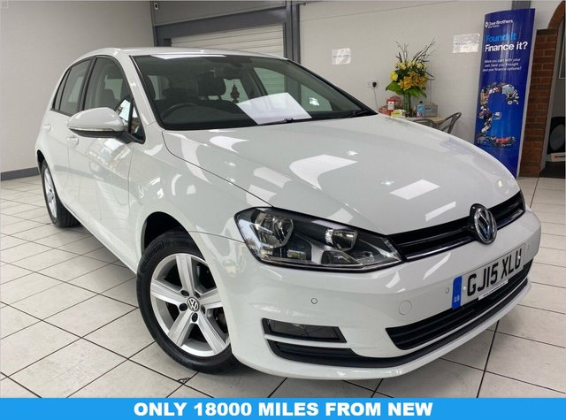 USED 2015 15 VOLKSWAGEN GOLF 1.4L MATCH TSI BLUEMOTION TECHNOLOGY 5d 120 BHP ONLY 18208 miles from new