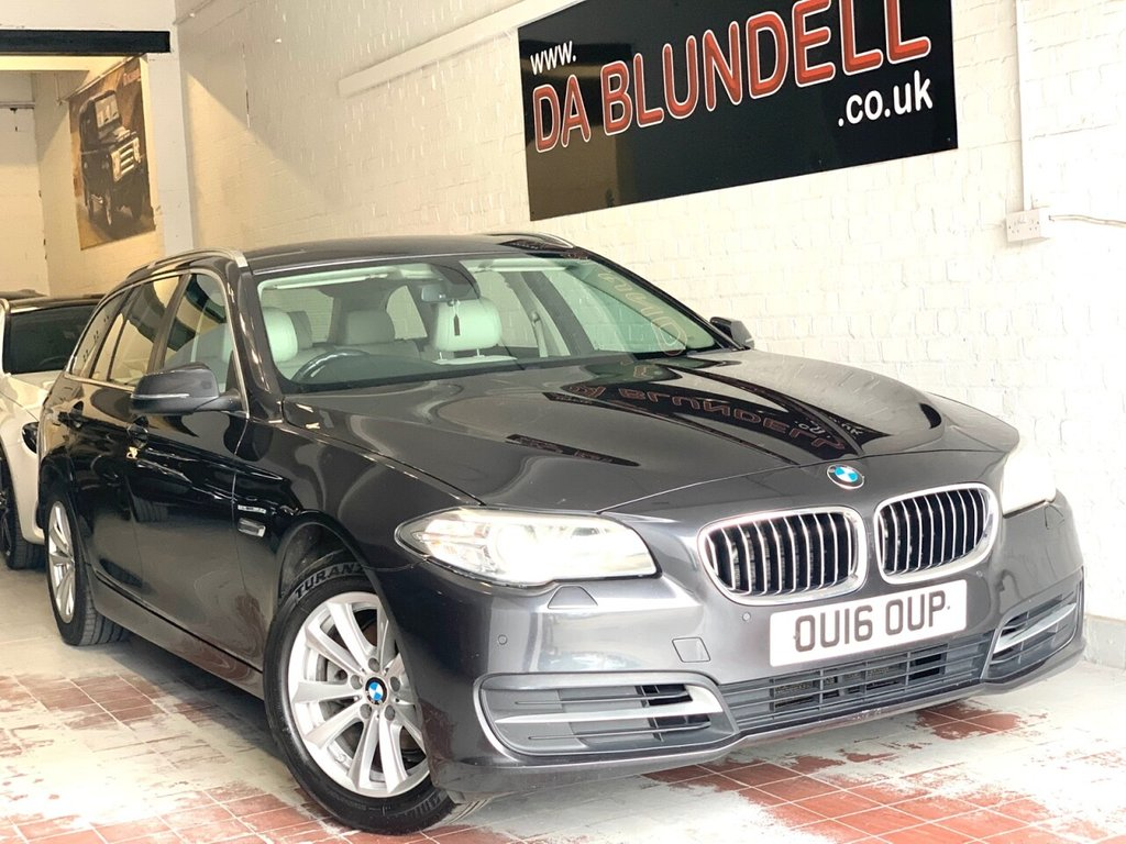 USED 2016 16 BMW 5 SERIES 2.0 520D SE TOURING 5d 188 BHP SAT NAV+LEATHER+TOW BAR+FSH