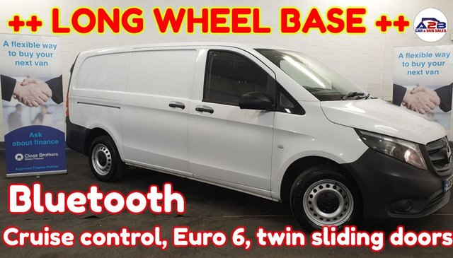 USED 2017 67 MERCEDES-BENZ VITO 1.6 ++ LONG WHEEL BASE ++ Bluetooth, Cruise, Electric Windows and much more  ++ LONG WHEEL BASE ++