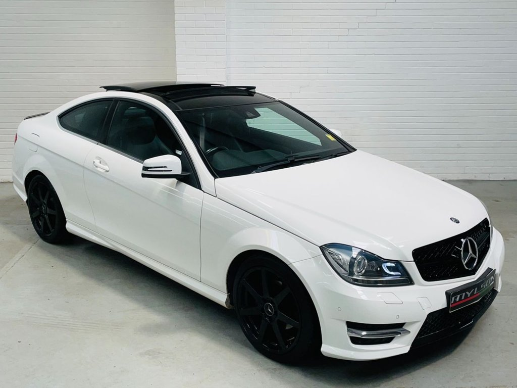 USED 2014 64 MERCEDES-BENZ C-CLASS 2.1 C220 CDI AMG SPORT EDITION PREMIUM PLUS 2d 168 BHP AMG Pack Glass Pan Roof Reverse Cam Black Pack FINANCE