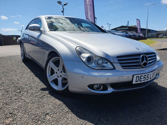 USED 2005 55 MERCEDES-BENZ CLS 350  TIP AUTO *** PART EXCHANGE & CARD PAYMENTS WELCOME *** 1 OWNER FROM NEW 48000 MILES FULL BLACK LEATHER SAT/NAV PARKING SENSORS AIR/CON CRUISE CONTROL