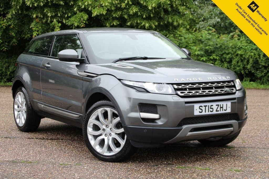 """USED 2015 15 LAND ROVER RANGE ROVER EVOQUE 2.2 ED4 PURE TECH 3d 150 BHP **  LONG ADVISORY FREE MOT + FRESH SERVICE ** UPGRADED 20"""" ALLOYS ** HEATED LEATHER ELECTRIC SEATS ** SAT NAV ** REAR PARKING AID ** CRUISE CONTROL ** CLIMATE CONTROL ** BLUETOOTH ** AUTO LIGHTS + WIPERS ** LOW RATE 0 DEPOSIT FINANCE AVAILABLE ** NATIONWIDE DELIVERY AVAILABLE ** CLICK AND COLLECT AVAILABLE **"""