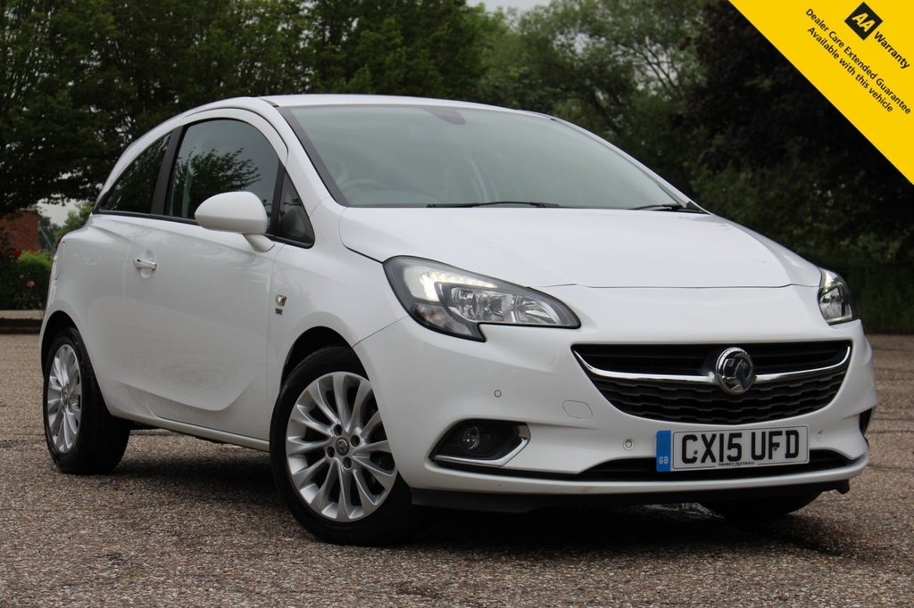 USED 2015 15 VAUXHALL CORSA 1.4 SE 3d 89 BHP ** SUPERB CONDITION AUTOMATIC ** FULL SERVICE HISTORY ** BRAND NEW ADVISORY FREE MOT - JUNE 2022 ** UPGRADED FRONT + REAR PARKING AID ** HALF LEATHER - HEATED SEATS + STEERING WHEEL ** APPLE CAR PLAY / ANDROID AUTO **  DAB RADIO ** AIR CONDITIONING ** CRUISE CONTROL ** BLUETOOTH ** AUTO LIGHTS + WIPERS ** ULEZ CHARGE EXEMPT ** BUY ONLINE IN CONFIDENCE FROM A MULTI AWARD WINNING 5* RATED DEALER ** NATIONWIDE DELIVERY AVAILABLE **