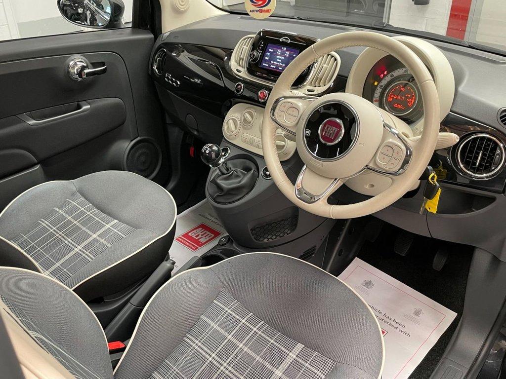 USED 2017 17 FIAT 500 1.2 8V Lounge (s/s) 3dr