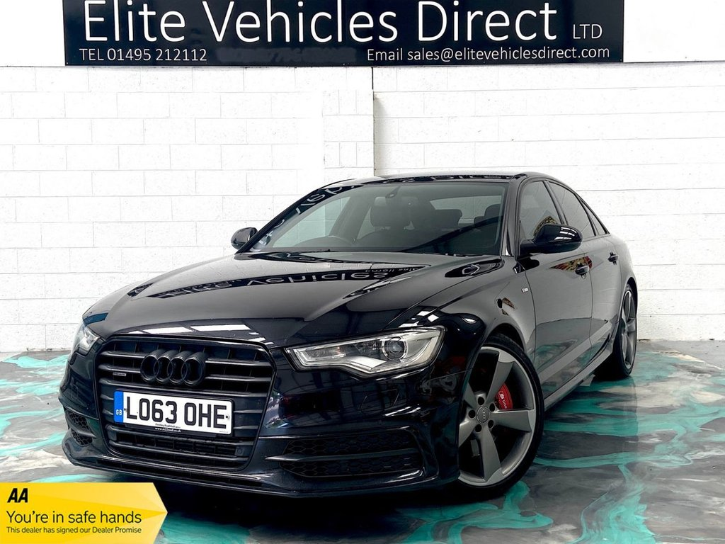 USED 2014 63 AUDI A6 3.0 TDI QUATTRO BLACK EDITION 4d 313 BHP *LOW RATE FINANCE FROM 6.9% APR