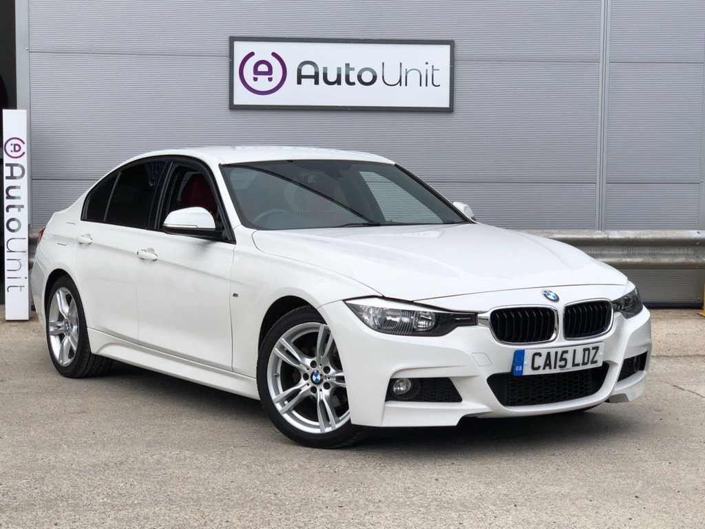 USED 2015 15 BMW 3 SERIES 2.0 318D M SPORT 4d 141 BHP COMPREHENSIVE SERVICE HISTORY | HEATED SEATS | RED LEATHER | DAB RADIO | PRO NAV | CRUISE CONTROL