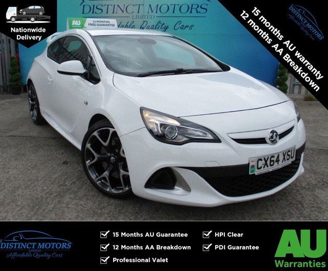 USED 2014 64 VAUXHALL ASTRA 2.0 VXR 3d 276 BHP ONLY 1 FORMER OWNER+ONLY 30K MILES