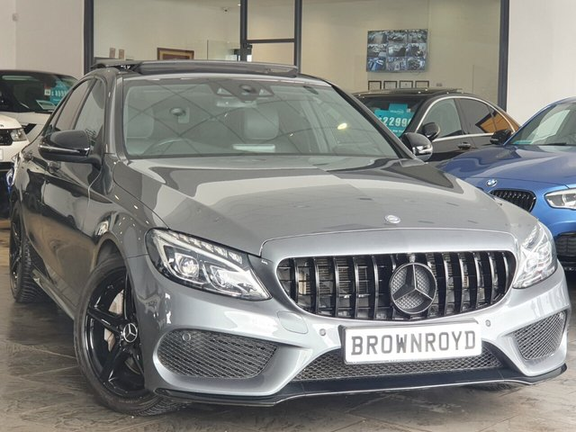 USED 2017 17 MERCEDES-BENZ C-CLASS 2.1 C250 D AMG LINE 4d 204 BHP BRM BODY STYLING+PAN ROOF