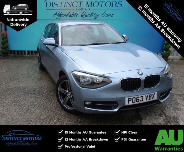 USED 2013 63 BMW 1 SERIES 2.0 118D SPORT 5d 141 BHP A RARE AUTO WITH BMW SERV HIST