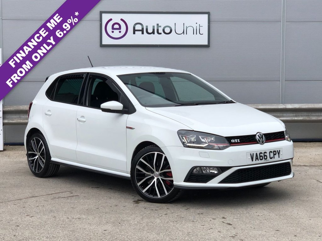 USED 2016 66 VOLKSWAGEN POLO 1.8 GTI 5d 189 BHP FULL VW SERVICE HISTORY + BLUETOOTH + DAB TUNER + AIR CONDITIONING + LEATHER MULTI FUNCTION STEERING WHEEL