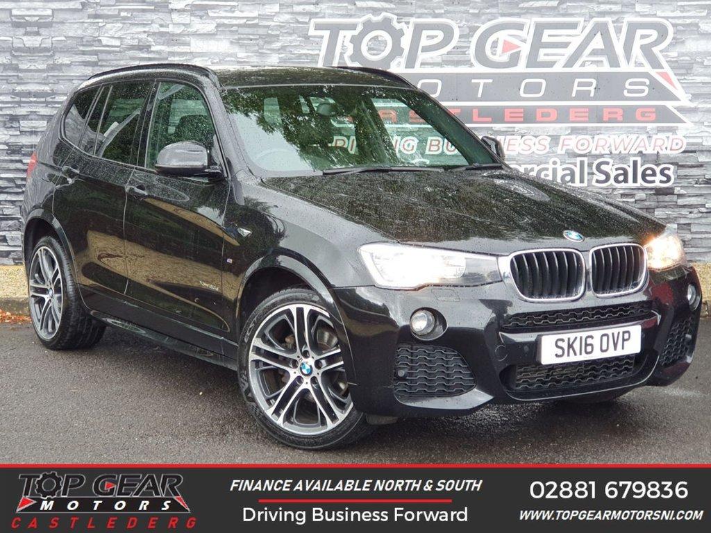USED 2016 16 BMW X3 2.0 XDRIVE20D M SPORT 5d AUTO 188 BHP ** METALLIC BLACK SAPPHIRE, PROFESSIONAL MEDIA, 4WD ** OVER 90 VEHICLES IN STOCK