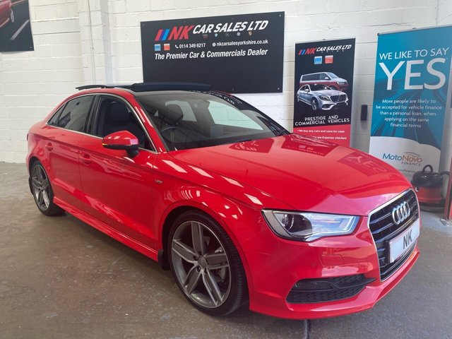 USED 2014 64 AUDI A3 2.0 TDI S LINE 4d 148 BHP FULL LEATHERS PAN ROOF  19 INCH ALLOYS